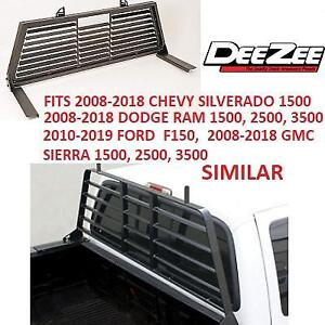 NEW* DEE ZEE STEEL CAB TRUCK RACK DZ95050SLB 207821862 CARGO MANAGEMENT LOUVERED BLACK CHEVY GMC FORD DODGE SILVERADO...