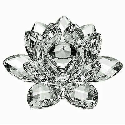 """3"""" High Quality Clear Crystal Lotus Flower with Gift Box     USA Seller"""