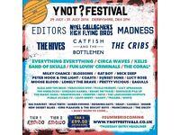 YNOT Festival 2017 ticket, thursday early entry