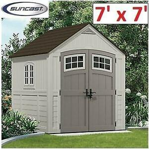 NEW* SUNCAST CASCADE SHED 7' x 7' BMS7790D 200180471 UTILITY SHED GARAGE STORAGE