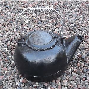 Primitive Cast Iron Kettle
