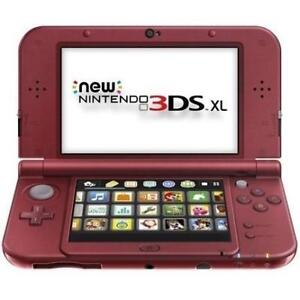 REFURB NEW NINTENDO 3DS XL SYSTEM - 125943448 - RED  VIDEO GAMES HANDHELD CONSOLE