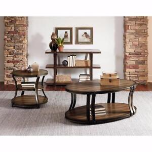 Standard Furniture Huntington Oval Tail Table With Curved Legs New