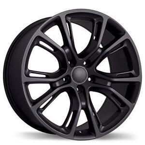 "20"" Wheels Jeep Grand Cherokee SRT8 Durango Mag Winter SRT Wheel Matte & Gloss Black Dark Hyper Silver"