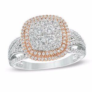 White and rose gold diamond engagement ring Gatineau Ottawa / Gatineau Area image 1