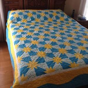CUSTOM MADE QUILT, PROFESSIONALLY QUILTED