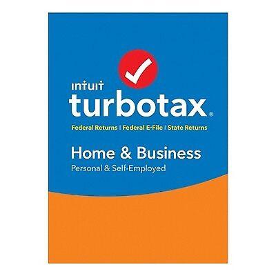 TurboTax Home & Business for Tax Year 2017 Mac|Windows INT940800F065