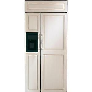 """Monogram ZISB360DX 36"""" Side by Side Panel Ready Refrigerator, Th"""