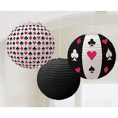 Lampion Laternen Dekoration Casino Las Vegas Deko Black Jack Deko Party Feste