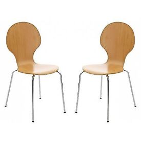 Pair Of Stackable Bentwood Chairs