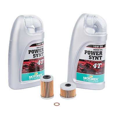 Oil Change Kit With Motorex Power Synthetic 4T 10W-50 KTM 690 ENDURO (Ktm 690 Enduro R Oil Change Kit)