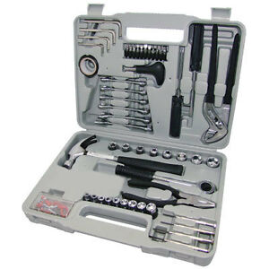 141 PIECE PRO COMPLETE TOOL KIT + CASE Screwdriver Socket Hammer Tool Set - NEW