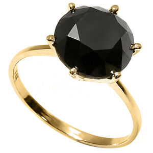 NEW GORGEOUS RING - 2.65 CWT. BLACK DIAMOND SET IN 14 KARAT GOLD