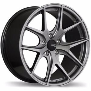 fast FC04 titanium color 17x8 5x114.3 +45 ti in stock fit 2006 to 2015 civic n more