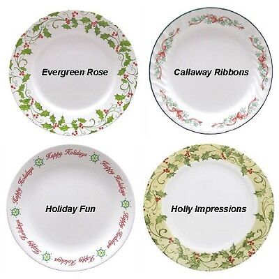 Also available in this collection are popular open stock pieces such as lunch plates and flat rimmed soup bowls. The design is described as a festive ...  sc 1 st  eBay & CORELLE-CHRISTMAS-HOLIDAY-DINNERWARE-