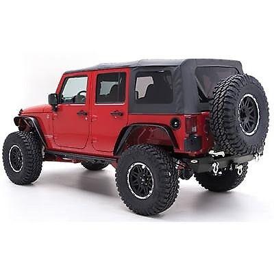 Superior Jeep Wrangler JK 4D (2010 2013) Black Soft Top Smittybilt Greggson Off Road
