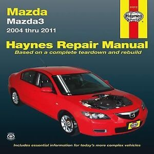 2004 2011 Haynes Mazda Mazda3 Repair Manual 1563929155 Ebay 2011 Mazda 3  Owners Manual Mazda 3