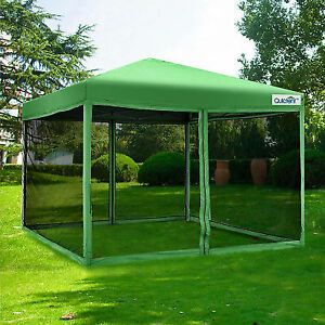 Quictent 8x8 EZ Pop up Canopy Tent With Netting Screen House Mesh Sides Green & Quictent 8x8 EZ Pop up Canopy Tent With Netting Screen House Mesh ...