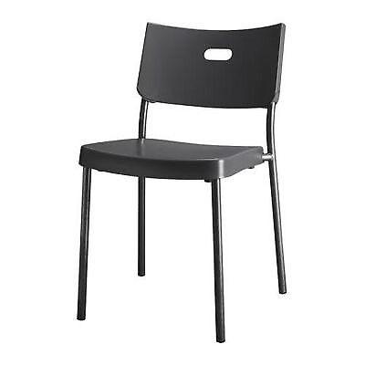 Exceptionnel 2x IKEA Plastic Chair HERMAN   Black