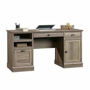Sauder Barrister Lane Executive Desk, Salt Oak