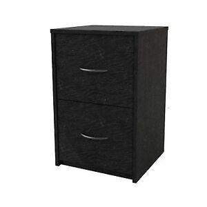 2 Drawer File Cabinet Filing Office Storage Furniture Black Wood 2drawer  Home