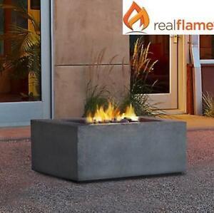 NEW REAL FLAME 36'' FIRETABLE T9620NG-GLG 139044534 BALTIC SQUARE GLACIER GRAY