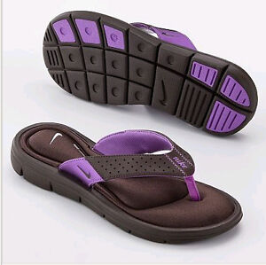 Nike-Womens-Comfort-Thong-Flip-Flops-Sandals-Brown-Purple-All-Size-354925-221