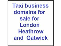 Taxi business domains for sale London, Heathrow and Gatwick