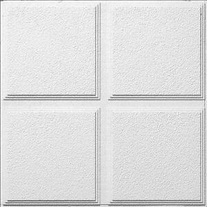Armstong Ceiling Tile - CASCADE PATTERNED WHITE 2' X 2' PANEL