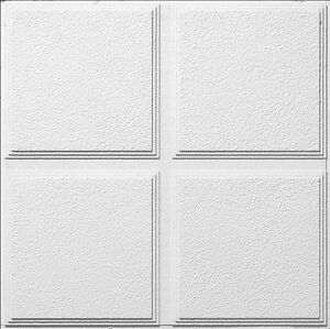 Armstrong Ceiling Tile - CASCADE PATTERNED WHITE 2' X 2' PANEL