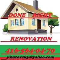 DONE RIGHT RENOVATION TILE SETTERS
