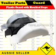 "13"" Trailer Plastic Mud Guard White Grey or Black with Steps Burleigh Heads Gold Coast South image 2"