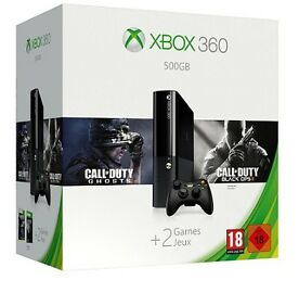 Microsoft Xbox 360 E 500GB + Call of Duty: Ghost + Black Ops 2 + Controller