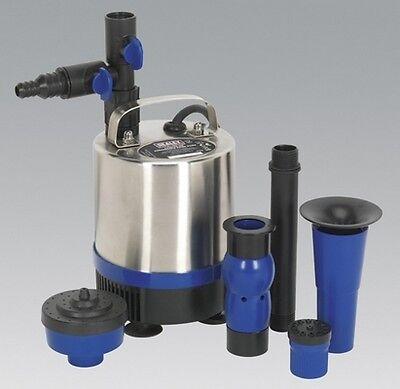 Sealey WPP1750S Submersible Pond Pump S/Steel 1750Ltr/Hr 230V Garden Garage