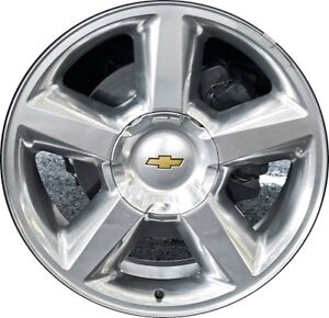 "20 "" factory Avalanche Chev 5 spoke rims and caps"