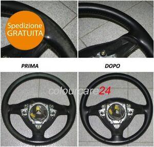 Kit-Rinnova-Colore-Volante-Pelle-Peugeot-NERO-Ritocco-207-CC-Interni-Cabrio-307