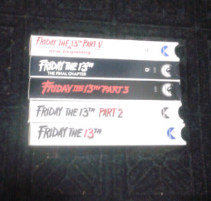 Friday the 13th collections 1 - 5 on VHS Excellent