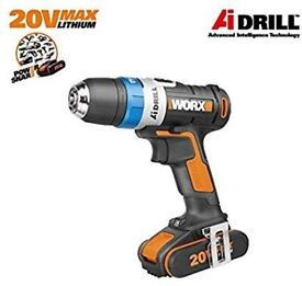 WORX WX178.1 18V (20V MAX) AI Cordless Drill Driver with x1 2.0Ah Batteries