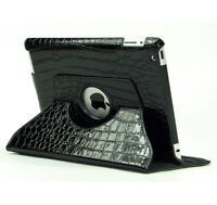CROCODILE SKIN LEATHER CASE WITH STAND FOR IPAD