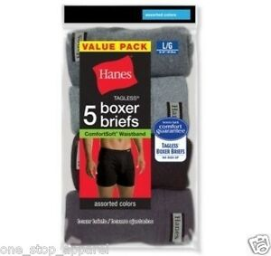Hanes Men's TAGLESS Boxer Briefs with ComfortSoft Waistband P5 - 7460Z5
