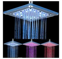 LED SHOWER 8 INCH METAL / GLASS