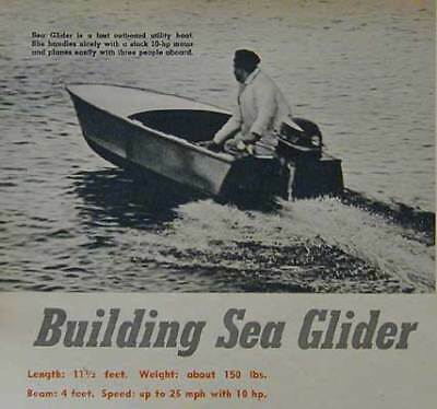 11 1/2' Pram Yacht Tender Scow *Sea Glider* How-To build PLANS for sale  Diamond Point