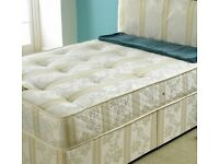 **FREE DELIVERY**DOUBLE CROWN FULLY ORTHOPAEDIC DIVAN BED