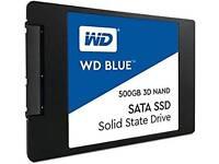 Western Digital WDS500G2B0A WD Blue 3D NAND SATA SSD Internal Storage, 500GB - Black