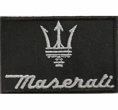 "Maserati Sitzbezug Krone lamborghini 3"" x 2"" Iron-on or Sew-on Embroidered Patch"