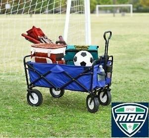 NEW MAC SPORTS COLLAPSIBLE WAGON WTC-111 245526894 FOLDING UTILITY BLUE