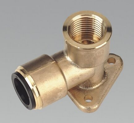 Sealey CAS15BWE Wingback Elbow 15mm X 1/2Bsp Brass Air Line Fitting Couplings