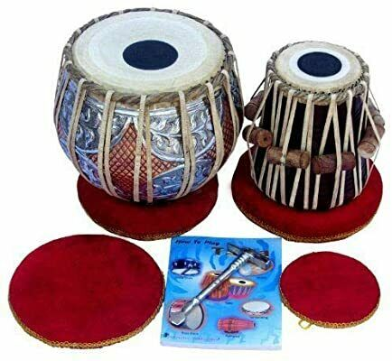 Off Tabla Drum Set, Concert Quality, 2.5Kg Copper Bayan - Double Color, Sheesham