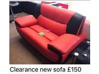 New red retro look sofa