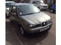 Seat Arosa S, 1.4 only 54000 miles, one previous owner, full service history/paperwork/books